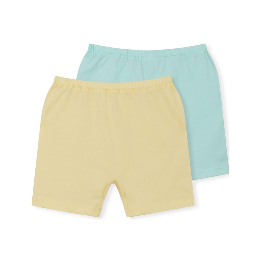 Combo 2 quần đùi bé gái sơ sinh 100% cotton USA -OEKOTEX Class 1 Canifa 4LB18A002-SY084