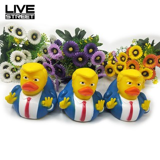 COD!! Baby Trump PVC Squeaky Duck Bath Stress Relieve Toy