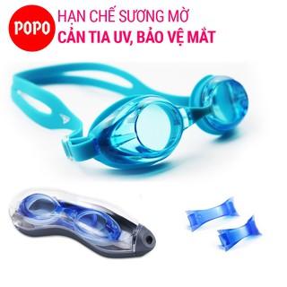 Kính bơi chính hãng POPO 1153 mắt kiếng bơi người lớn cho nam nữ chống lóa, hạn chế tia UV thiết kế thể thao