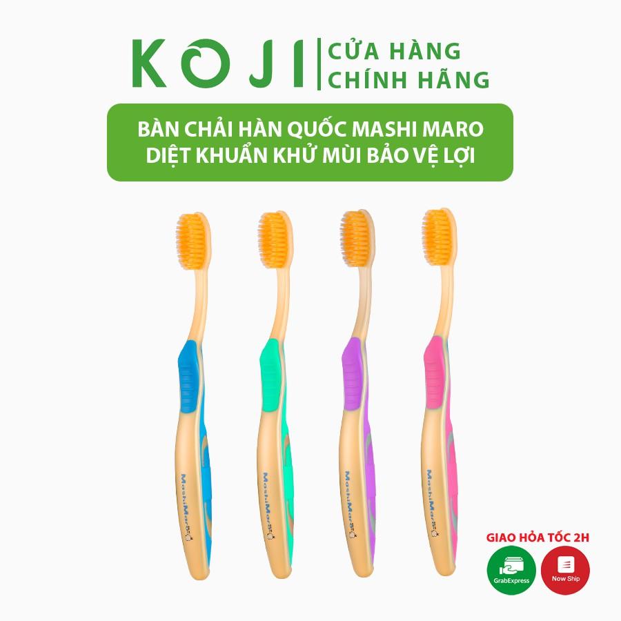 Bàn chải đánh răng EQ Tech Mashimaro Nano bàn chải lông mềm 2 tầng chính hãng Hàn Quốc diệt khuẩn khử mùi hôi bảo vệ lợi