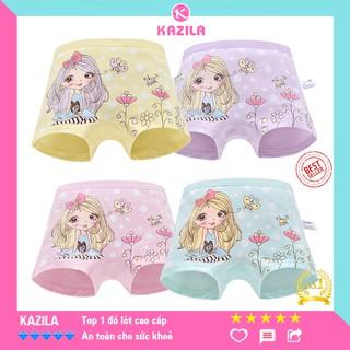 Quần chip đùi bé gái cotton tinh khiết hạng A, quần lót bé gái công chúa bướm Kazila QDG2