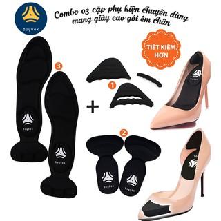Combo 03 phụ kiện chuyên dùng mang giày cao gót êm chân (mũi tròn) - buybox - BBPK09-11-50 thumbnail