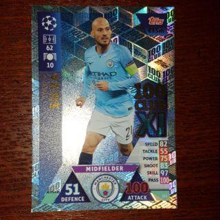 Silva 100 club Topps match attax extra c1 2018/2019 ( thẻ cầu thủ )