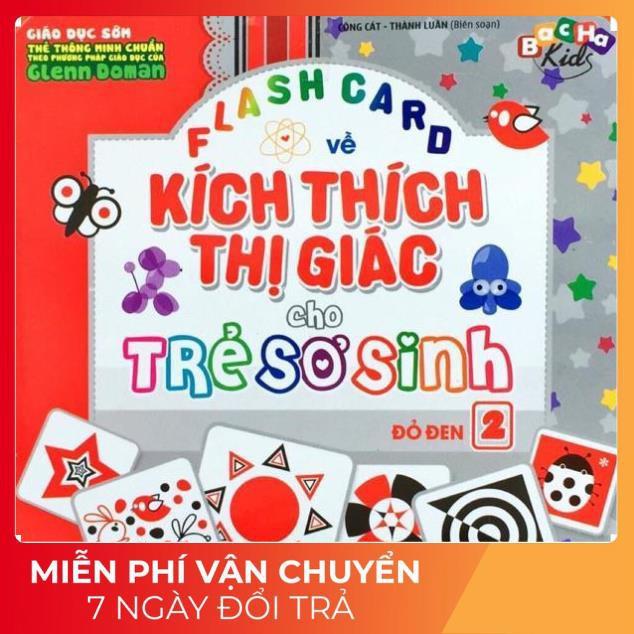 Thẻ Đỏ Đen Kích thích Thị giác Cho Trẻ Sơ Sinh 21x21cm (60 thẻ) - Flashcard Glenn doman cho bé 0-6 tháng TH12