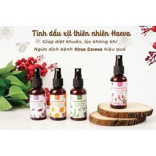 [FREESHIP] Tinh dầu xịt thơm thiên nhiên xịt phòng khử mùi Haeva 50ml(6mùi hương)