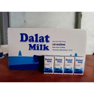 Sữa tươi có đường 110ml của Đà lạt ( tặng thêm 3 lốc cùng loại )