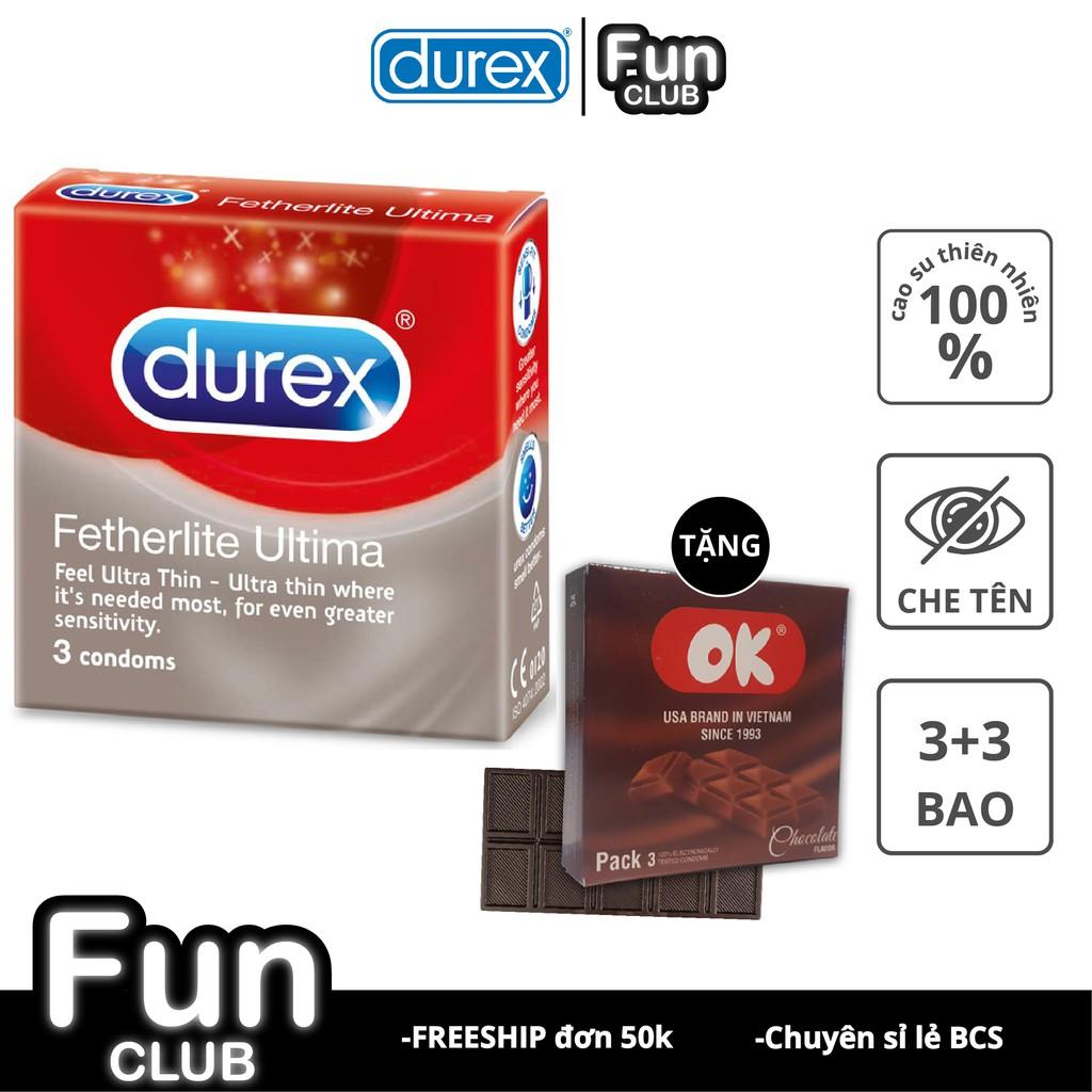 [QUÀ TẶNG] Bao cao su Durex hộp 3 cái