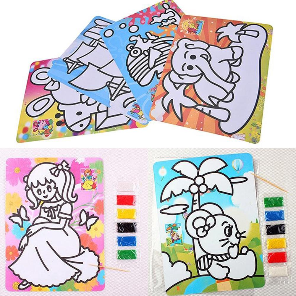 1/3/5X Colorful Sand Painting Picture Kid Child Education Intelligence DIY Toy