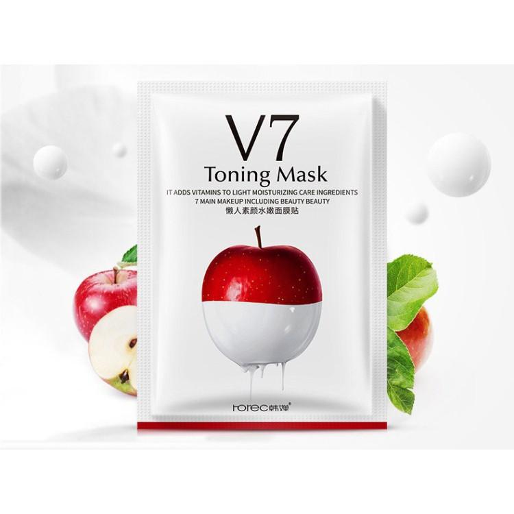 Mặt nạ giấy dưỡng da mụn cấp ẩm thải độc Táo V7 Toning Youth Mask Rorec - 22128460 , 2651608683 , 322_2651608683 , 5000 , Mat-na-giay-duong-da-mun-cap-am-thai-doc-Tao-V7-Toning-Youth-Mask-Rorec-322_2651608683 , shopee.vn , Mặt nạ giấy dưỡng da mụn cấp ẩm thải độc Táo V7 Toning Youth Mask Rorec