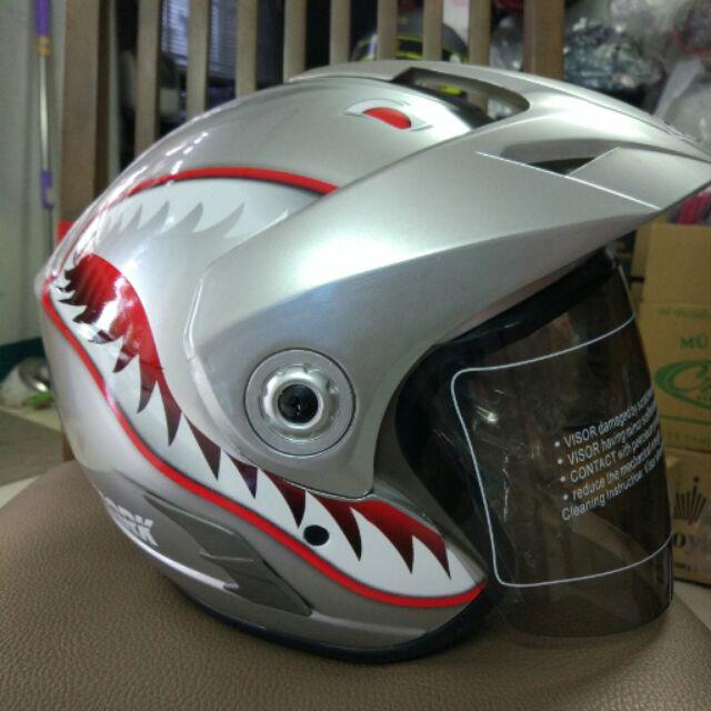[Nhập SSSAU giảm 10% cho đơn hàng từ 200k] Mũ bảo hiểm Napoli cá mập (Yohe phiên bản việt)