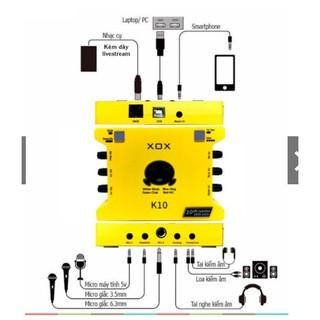 Soundcar cao cấp XÔX K10 kết nối với các dòng mic thu âm, livestream chuyên nghiệp [ BAO HANH 1 NAM] thumbnail