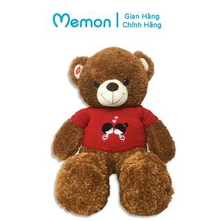 Gấu Bông Teddy Áo Len Kiss Cao Cấp Memon