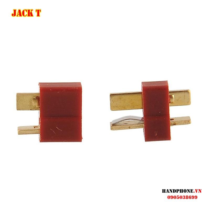 Jack cắm DC chữ T mạ vàng - Phích nối nguồn điện cho thiết bị điện công suất lớn, RC