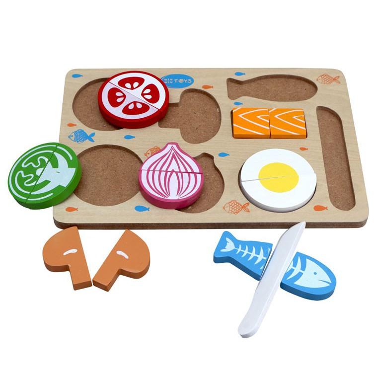 Bộ cắt thực phẩm đồ chơi nấu ăn kết hợp nhận dạng