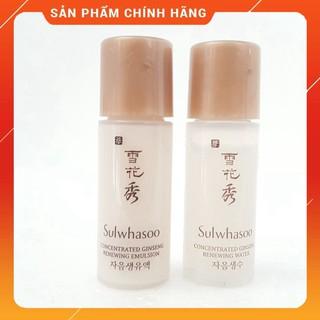 Cặp nước hoa hồng + sữa dưỡng nhân sâm chống lão hóa Sulwhasoo Concentrated Ginseng Renewing Water 5ml. thumbnail