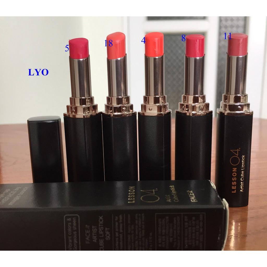 Sale 5 cây son dùng 1 lần duy nhất để test màu - Son môi Face It Artist Cube Lipstick Chalk
