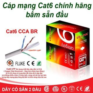 Dây Mạng Cat6 Bấm Sẵn 2 Đầu 10m 15m 20m 25m 30m 35m 40m 45m 50m - Cáp mạng, cáp lan, cáp internet