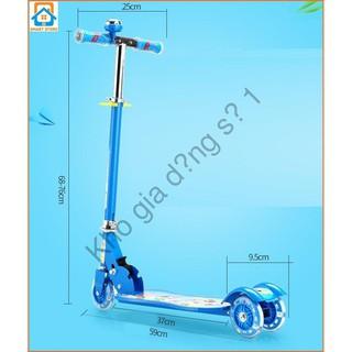 Xe trượt Scooter có đèn led chất liệu Sắt sỉ lẻ số 1