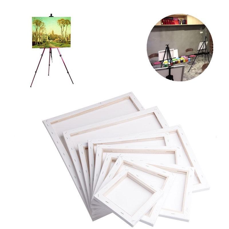 Bảng gỗ trắng hình vuông vẽ trang sơn dầu