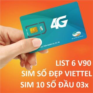 Sim số đẹp V90 Viettel 11 số nguyên kit gói sắp đổi sang 10 số (List6)