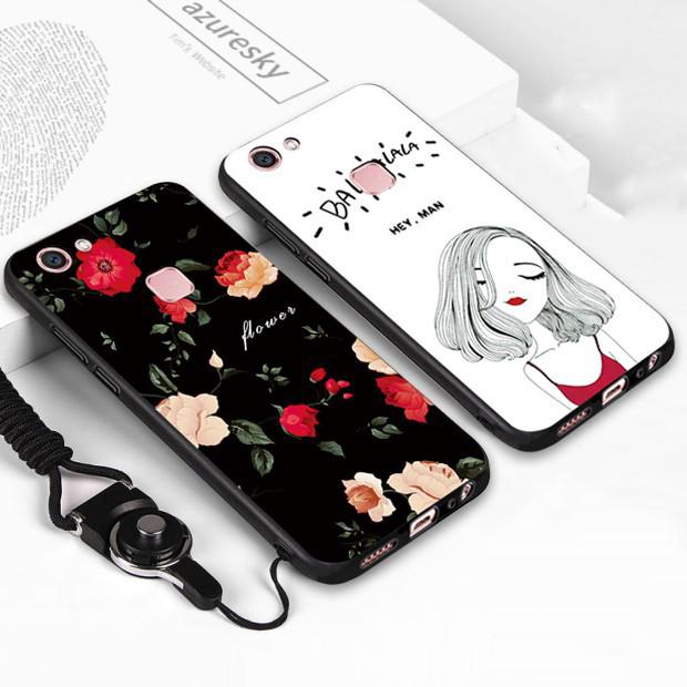 Clearance Sale VIVO V5 V7 V7Plus V9 V3 Y65 Y53 OPPO F1S A57 Soft Phone Case with Lanyard