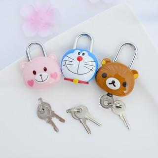Ổ khóa mã hoạt hình sáng tạo Phòng tập thể dục ký túc xá sinh viên tủ đựng hành lý ba lô khóa cửa dễ thương thumbnail