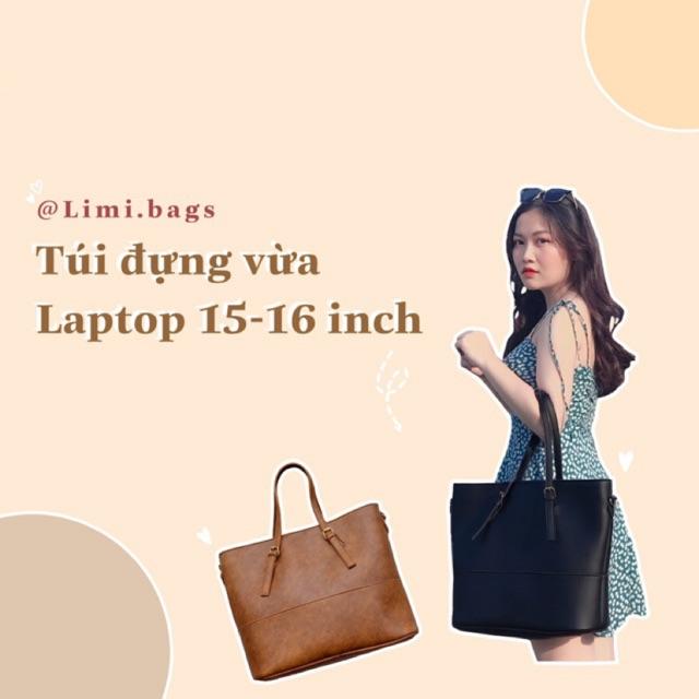 [New] Túi Xách Tay Nữ Thời Trang LUMI BAGS - Đựng Laptop 15-17inch - Túi Da Bản To LIMI BAGS