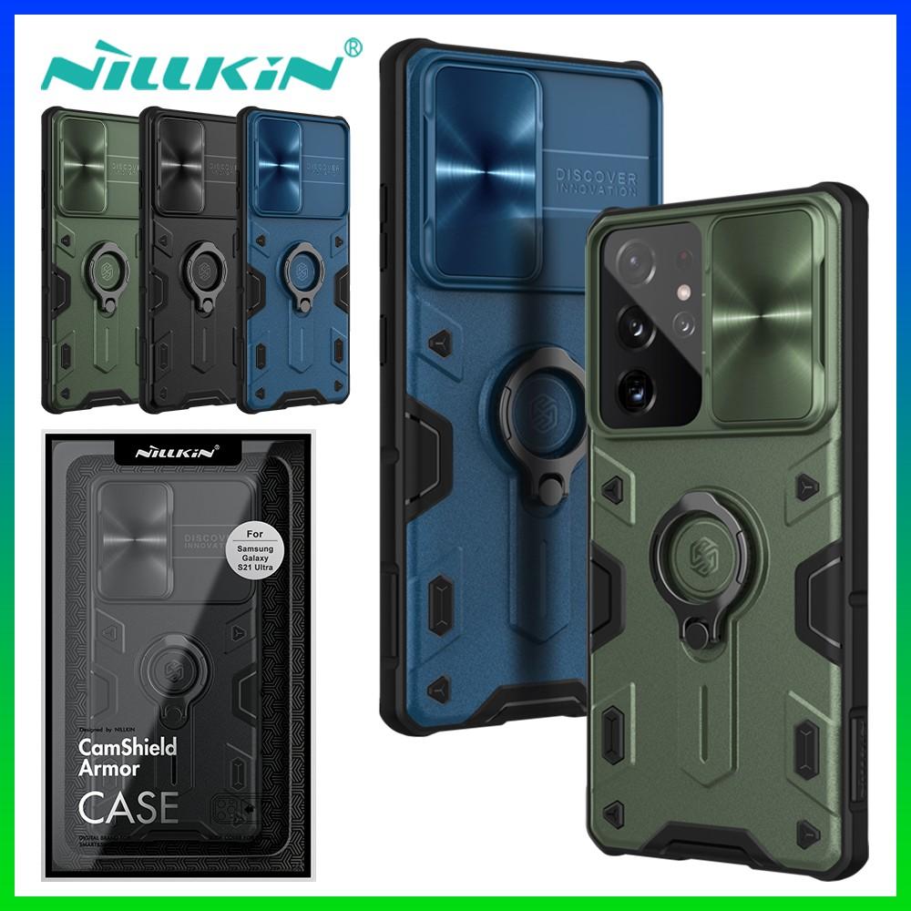 Ốp điện thoại NILLKIN có nắp trượt bảo vệ camera cho Samsung Galaxy S21 Ultra / S21 Plus / Note 20 Ultra / Note 20