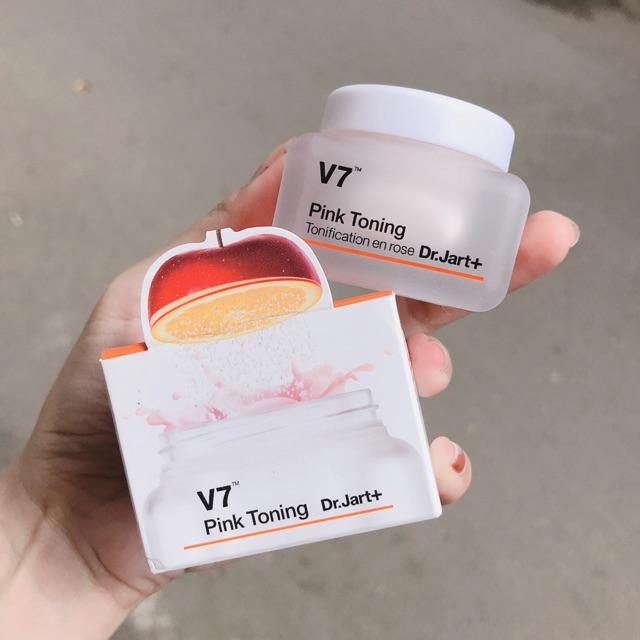 Kết quả hình ảnh cho kem dưỡng v7 pink toning mini