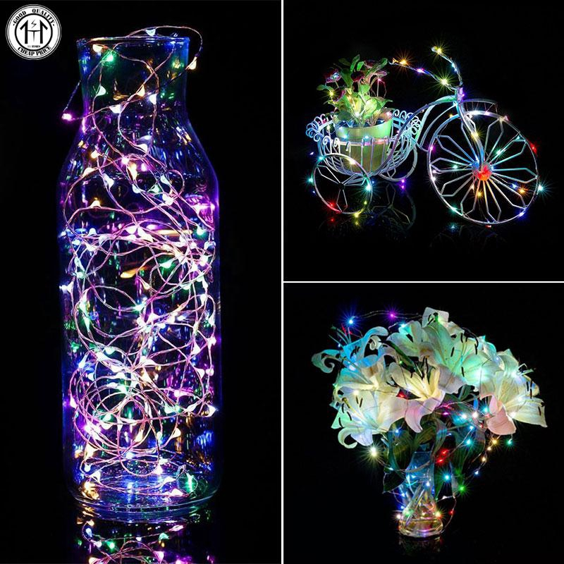 3M Copper Silver Wire String Bend LED Bulb Light 3AABattery Home Decor Colorful