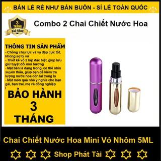 Combo 2 Chai Chiết Nước Hoa Tự Động Mini - Chai Chiết Nước Hoa 5ML Vỏ Nhôm Giá RẺ - Quà Tặng 20 10 thumbnail