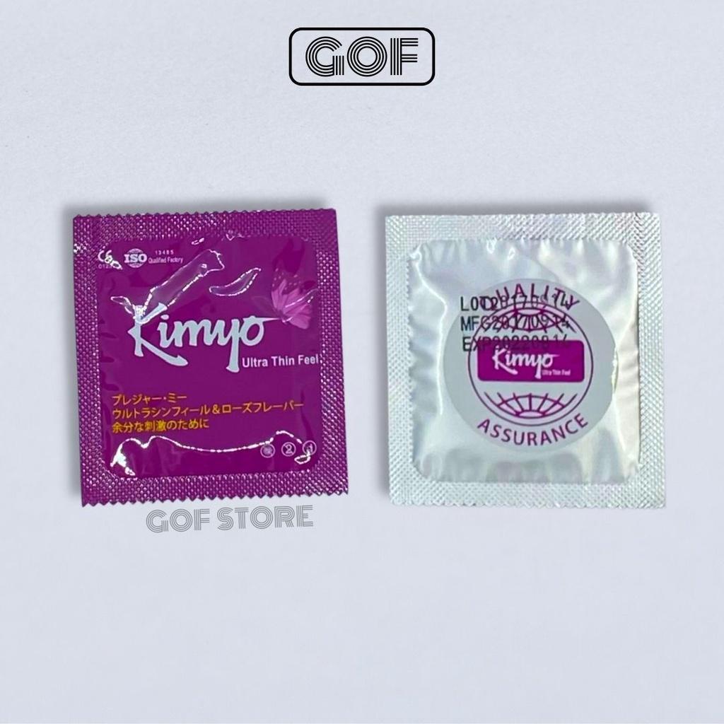 [BẢO MẬT ĐƠN HÀNG] Bao cao su trơn mỏng Kimyo Nhật Bản hương dâu chính hãng - 1 cái bcs...