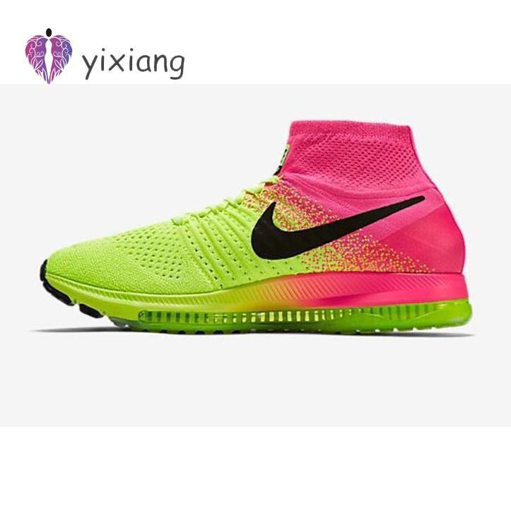 KSK@ NIKE ZOOM ALL OUT FLYKNIT OC รองเท้าวิ่ง Nike air sneakers สำหรับชายและหญิงสีเขียวอ่อนเรืองแสง