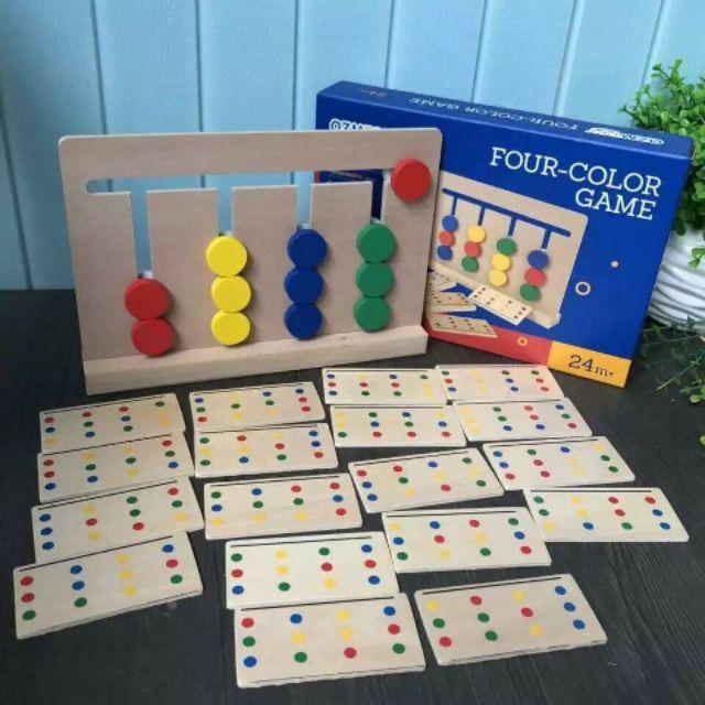 Four Colors  Games Đồ chơi gỗ Montessori