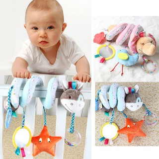 Hibb Baby Lathe Pendant Around Plush Toy Elephant Bell Mirror Toy