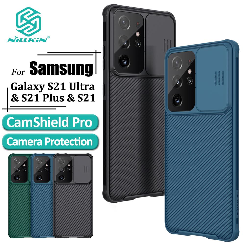 1. Ốp Điện Thoại Nillkin Sang Trọng Nắp Trượt Bảo Vệ Camera Cho Samsung Galaxy S21/S21 Ultra/S21 Plus 5G