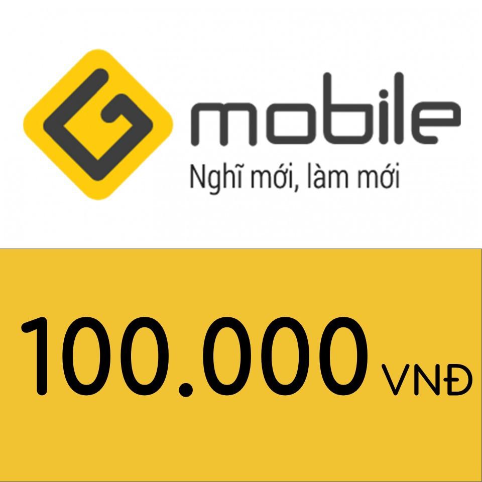 Mã thẻ điện thoại Gmobile 100K