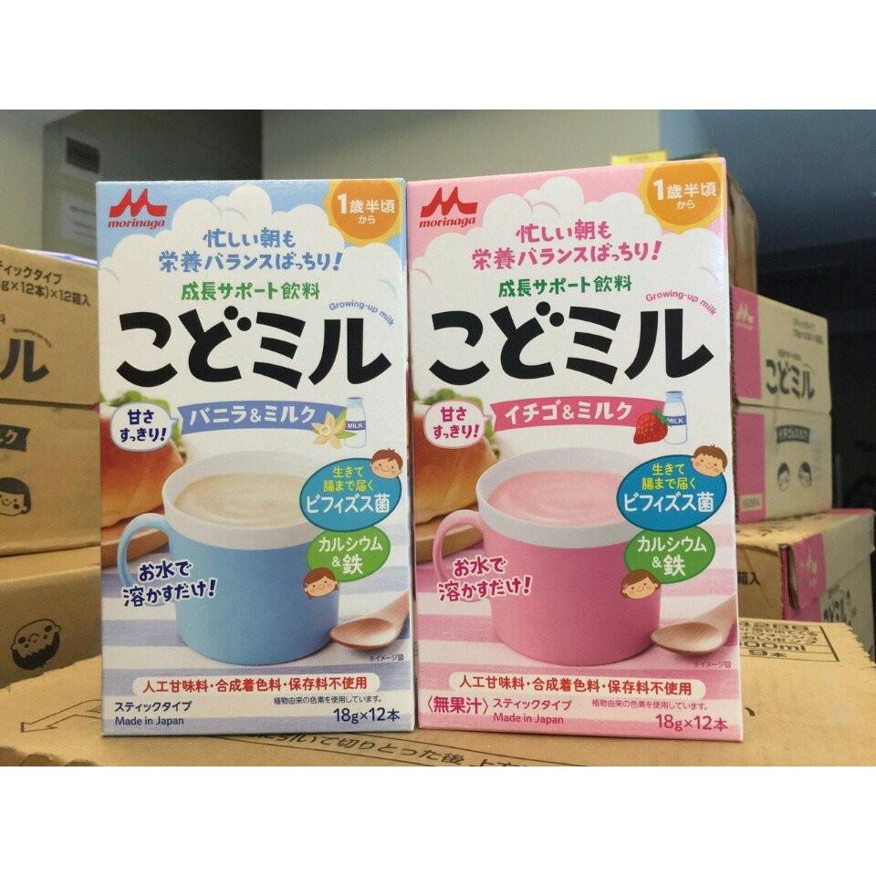 Sữa Morinaga Kodomil dinh dưỡng (hộp 12 thanh x 18g) nội địa Nhật - 22166463 , 1364405860 , 322_1364405860 , 170000 , Sua-Morinaga-Kodomil-dinh-duong-hop-12-thanh-x-18g-noi-dia-Nhat-322_1364405860 , shopee.vn , Sữa Morinaga Kodomil dinh dưỡng (hộp 12 thanh x 18g) nội địa Nhật