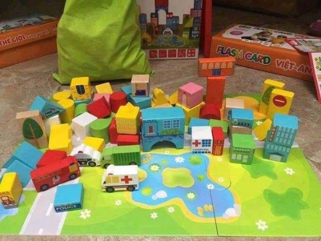 Bộ đồ chơi chơi xếp hình lâu đài cho bé