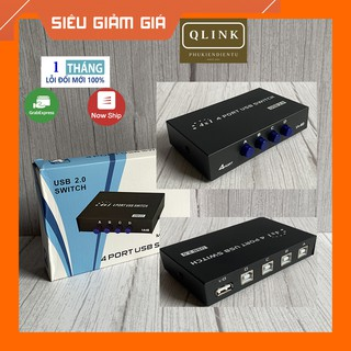 Bộ chuyển đổi, bộ chia máy in 1 ra 4 USB, 4 máy tính ra 1 máy in có công tắc SWITCH ưu tiên siêu tiện lợi thumbnail