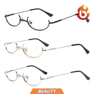 BEAUTY Unisex Decoration Eyewear Myopia Photography Eyeglasses Glasses Frame Cosplay Party Fashion Metal No Lens Half Frames/Multicolor
