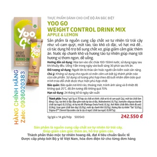 Thực phẩm bổ sung chất xơ, giúp giảm cảm giác thèm ăn. YOO GO DRINK MIX APPLE & LEMON, Siberian thumbnail