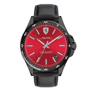 [Mã FARSBR153 giảm 15% đơn 150K] Đồng Hồ Ferrari Pilota Nam Dây Da Pin-Quartz 0830525 - Mặt Đỏ (45mm)