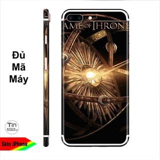Miếng dán skin hình Game Of Throne (Mã 009) cho iPhone ( có đủ mã máy ) thumbnail