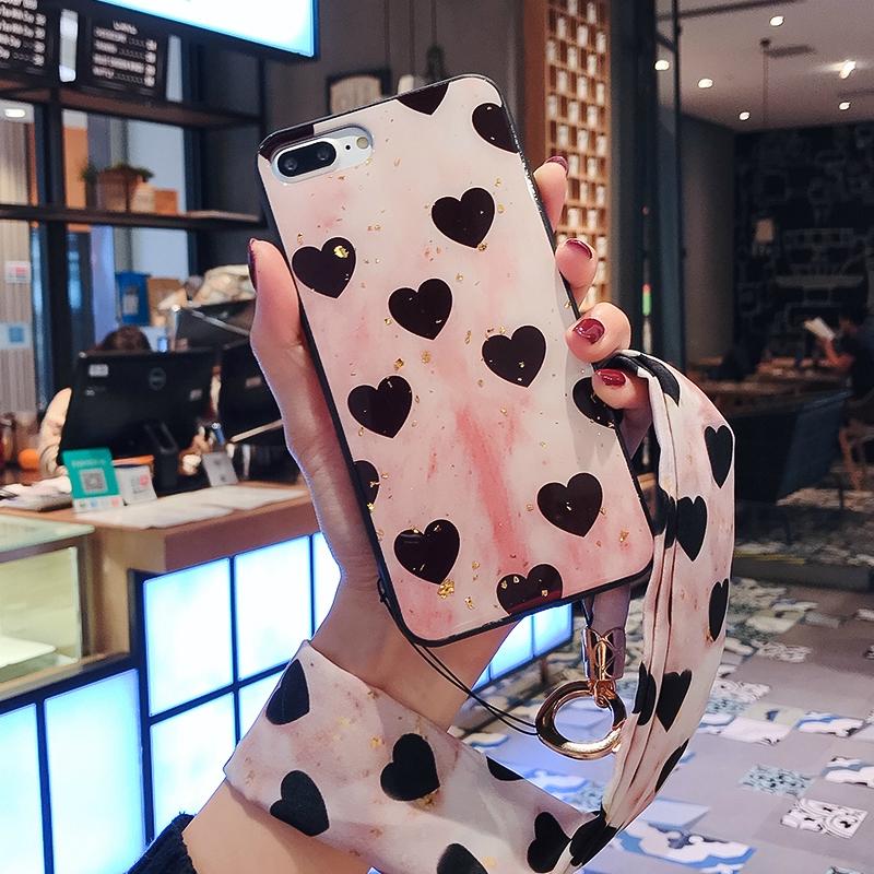 Ốp điện thoại mềm họa tiết trái tim xinh xắn cho Huawei Nova 3i 3e 3 P20 / Pro Lite