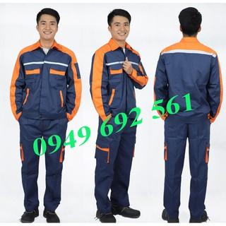 Quần áo bảo hộ phối màu, túi hộp phản quang KS 03