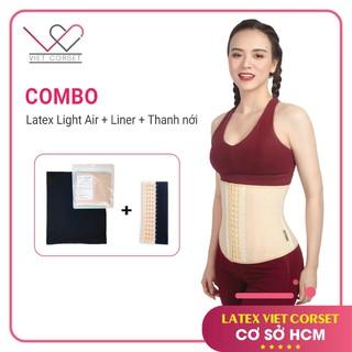 [COMBO] Latex Light Air 17 Xương Việt Corset Mới & Liner Chống Hằn Ngứa + Thanh Nới 5cm Móc Cài Chống Gỉ Cao Cấp