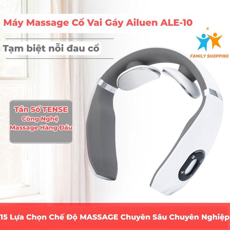 Máy massage cổ vai gáy 3D Ailuen ALE-10 chính hãng, massage xung điện trị liệu hiệu quả tức thời chỉ với 15p mỗi ngày