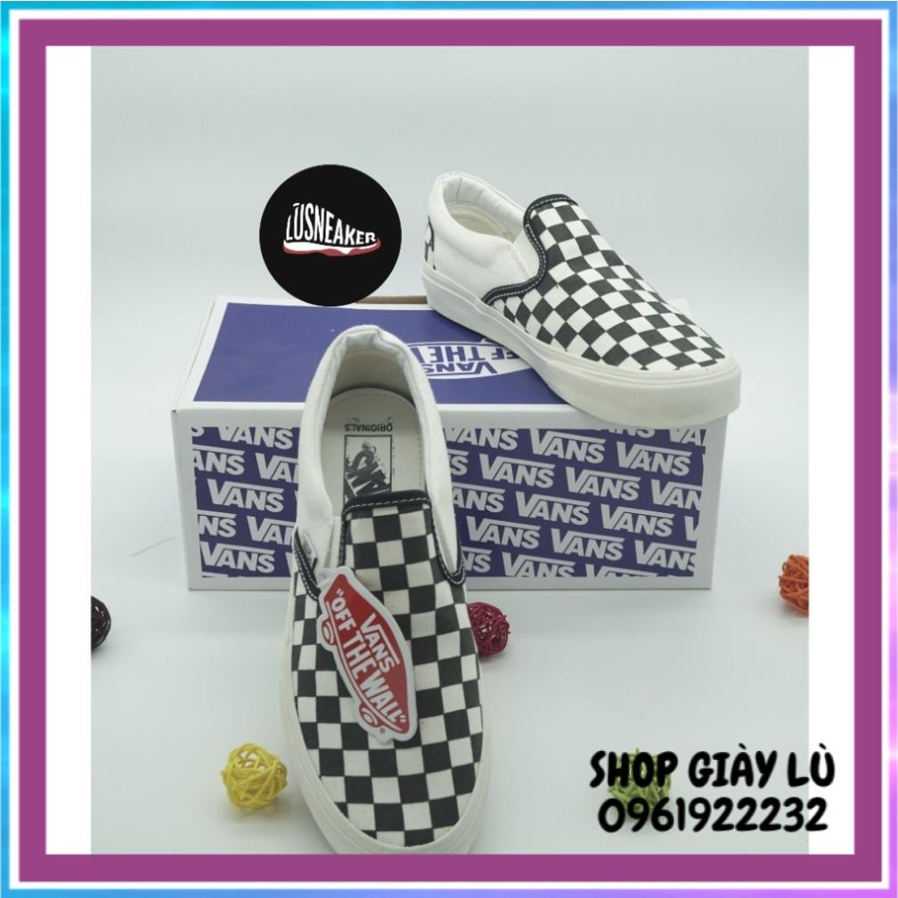 Giày Vans Caro 🏆HOT TREND🏆 Giầy Thể Thao Vans caro / Sneaker Nam Nữ Đủ Size : 36-43 /Giày Vans slip on /Lustore