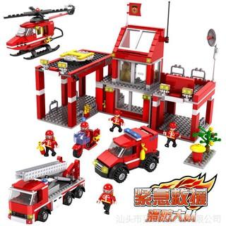 Lego Lắp Ráp Trạm Cứu Hỏa COGO 3616 ( 827 Miếng )